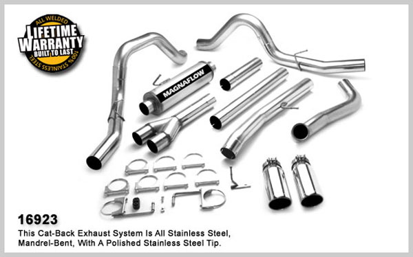 Magnaflow 16923:  Exhaust System for FORD 6.0L POWERSTROKE DIESEL, 4in. SYSTEM 2005-2007