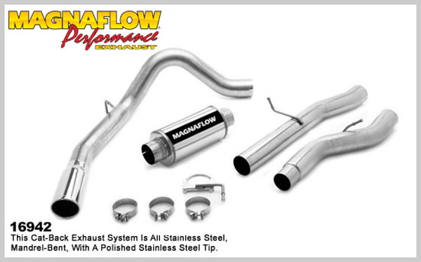 Magnaflow 16942:  Exhaust System for GM DURAMAX DIESEL 6.6L Silverado/Sierra 2500HD/3500 CC/Shrt Bed 4in. CB SYSTEM 2006-2007 Single Side Exit