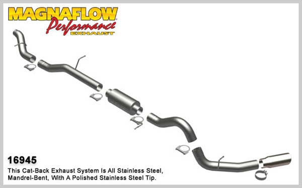 Magnaflow 16945:  Exhaust System for GM DURAMAX DIESEL 6.6L Silverado/Sierra 2500HD/3500 EC/LB Bed 4in. CB XL SYSTEM 2006-2007 Single Side Exit