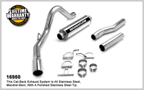 Magnaflow 16950:  Exhaust System for FORD 7.3L POWERSTROKE DIESEL, 4in SYSTEM 1999-2007