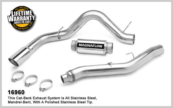 Magnaflow 16960:  Exhaust System for GM DURAMAX DIESEL 6.6L Silverado/Sierra 2500HD/3500 CC/Shrt Bed 5in. CB SYSTEM 2006-2007 Single Side Exit