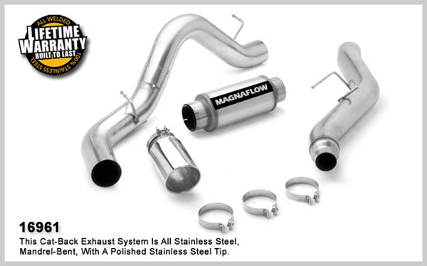 Magnaflow 16961:  Exhaust System for GM DURAMAX DIESEL 6.6L Silverado/Sierra 2500HD/3500 CC/Shrt Bed 5in. CB SYSTEM 2006-2007 Clamp-on tip Single Side Exit