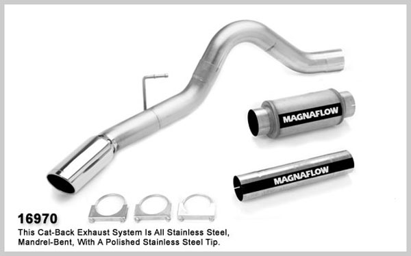 Magnaflow 16970:  Exhaust System for XL 2007 Dodge Ram 6.7L 4 inch