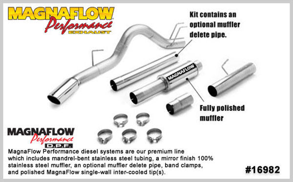 Magnaflow 16982:  Exhaust System for 2008 Ford F-Series 6.4L 5 inch