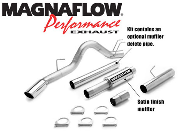 Magnaflow 16983:  Exhaust System for 2008 Ford F-Series 6.4L 4 inch