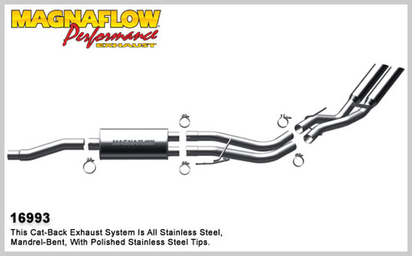 Magnaflow 16993:  Exhaust System for 10-11 Ford F-150 Raptor 5.4L
