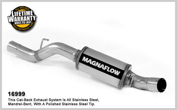 Magnaflow 16999:  Direct Fit Muffler Replacement Kit; 3.5in. Tubing for 2003-07 GM Duramax 6.6L 2500HD/3500 CC/SB