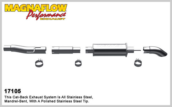 Magnaflow 17105:  Exhaust System for 2009-10 F-150 SC 4.6/5.4