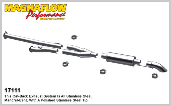 Magnaflow 17111:  Exhaust System for 2009-10 Toyota Tundra 5.7 EC/CC