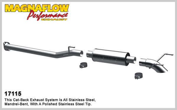 Magnaflow 17115:  Exhaust System for 2005-10 Toyota Tacoma EC/CC 2.7/4.0