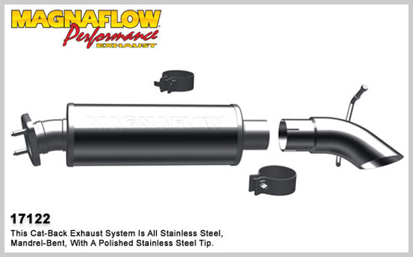 Magnaflow 17122:  Exhaust System for 2000-06 Jeep Wrangler 4/6 cyl