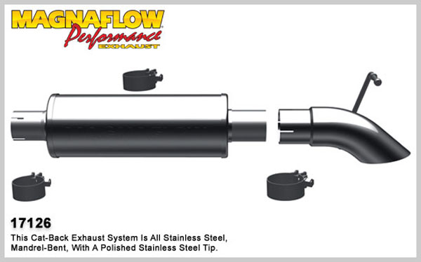 Magnaflow 17126:  Exhaust System for 1991-95 Jeep Wrangler 2.5/4.0