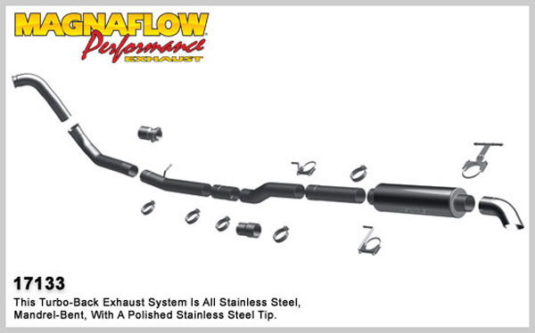 Magnaflow 17133:  Exhaust System for 2003-07 Ford Diesel EC/CC 4 inch