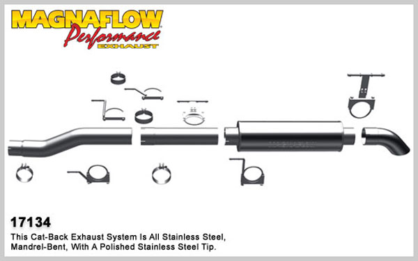 Magnaflow 17134:  Exhaust System for 2003-07 Ford Diesel EC/CC 4 inch
