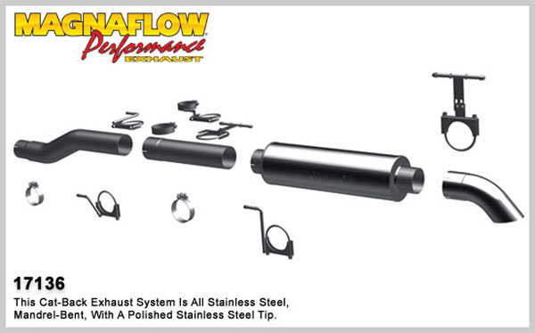 Magnaflow 17136:  Exhaust System for 1999-03 Ford Diesel EC/CC 4 inch