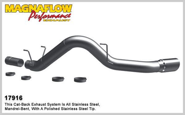 Magnaflow 17916:  Exhaust System for 2007-11 Ram 6.7L 5 inch Pro