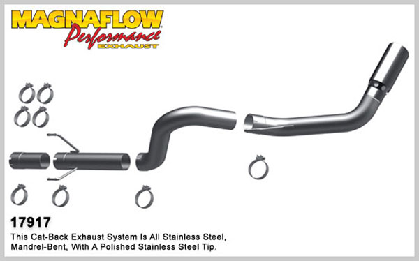 Magnaflow 17917:  Exhaust System for 2007-11 Ram 6.7L 4 inch Pro