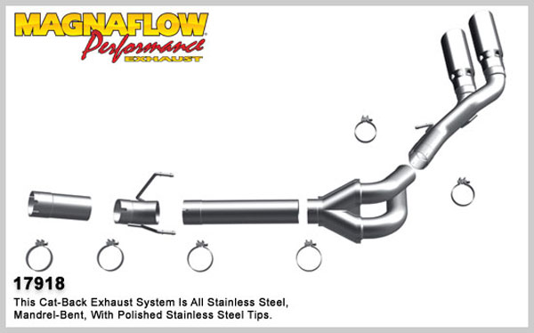 Magnaflow 17918:  Exhaust System for 2007-11 Ram 6.7L Dual Pro