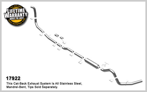 Magnaflow 17922:  Exhaust System for FORD 6.0L POWERSTROKE DIESEL, 4in. SYSTEM 2005-2007