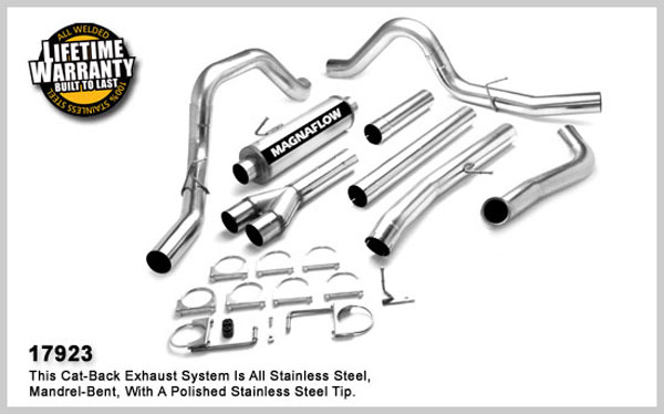 Magnaflow 17923:  Exhaust System for FORD 6.0L POWERSTROKE DIESEL, 4in. SYSTEM 2005-2007