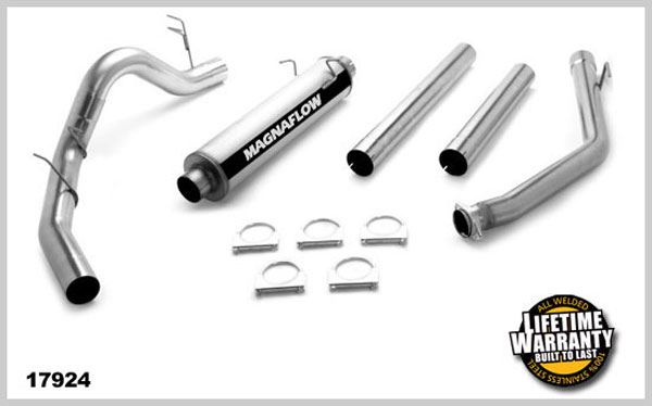 Magnaflow 17924:  Exhaust System for DODGE CUMMINGS DIESEL 4 IN. CLUB CAB 1998-2002