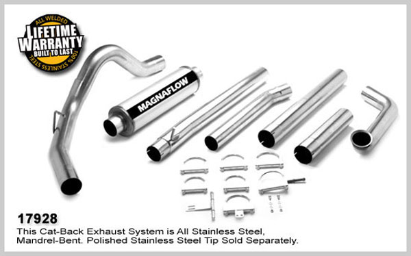 Magnaflow 17928:  Exhaust System for FORD 7.3L POWERSTROKE DIESEL, 4in SYSTEM 1999-2003