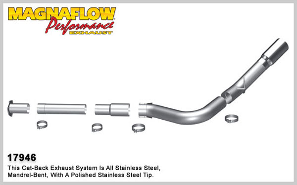 Magnaflow 17946:  Exhaust System for 2011 Ford Diesel 5 inch 6.7L Pro