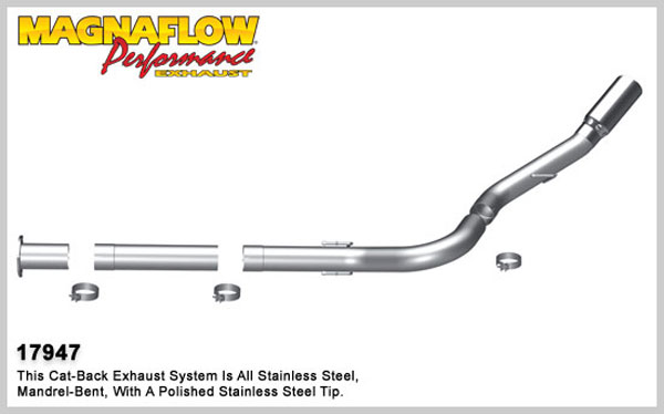 Magnaflow 17947:  Exhaust System for 2011 Ford Diesel 4 inch 6.7L Pro