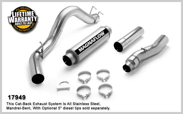 Magnaflow 17949:  Exhaust System for FORD 6.0L POWERSTROKE DIESEL, 5in. SYSTEM 2003-2007