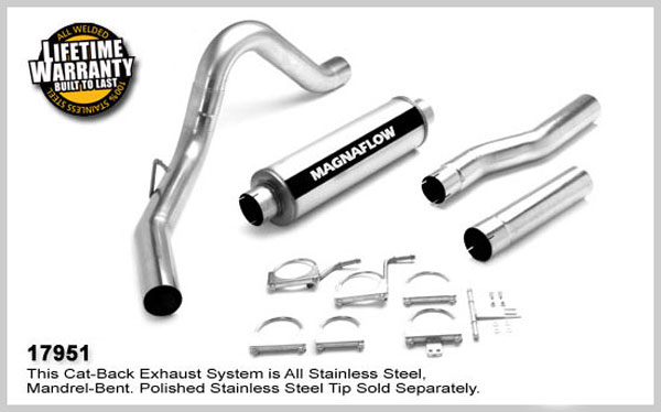 Magnaflow 17951:  Exhaust System for FORD 7.3L POWERSTROKE DIESEL, 4in SYSTEM 1999-2007