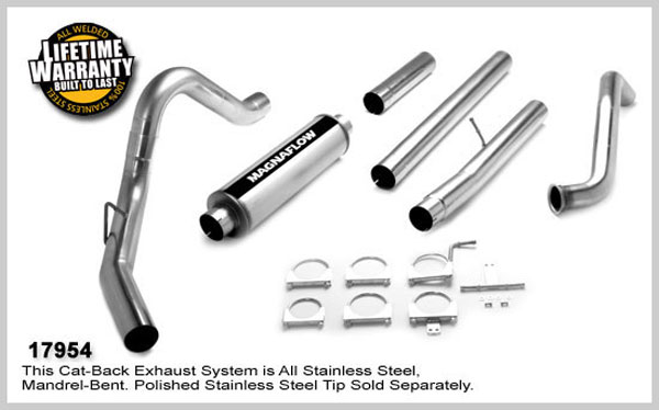 Magnaflow 17954:  Exhaust System for FORD 6.0L POWERSTROKE DIESEL, 4in. SYSTEM 2003-2007