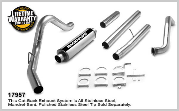 Magnaflow 17957:  Exhaust System for FORD 6.0L POWERSTROKE DIESEL, 4in. SYSTEM 2003-2007