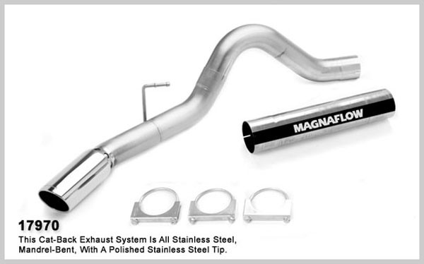 Magnaflow 17970:  Exhaust System for 2007 Dodge Ram 6.7L 4 inch