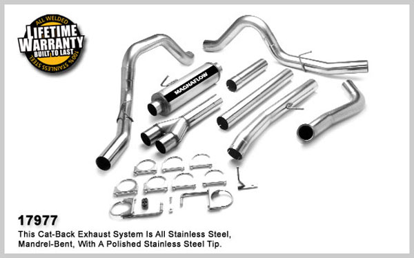 Magnaflow 17977:  Exhaust System for 2003- Ford 6.0L F250/F350 Dual