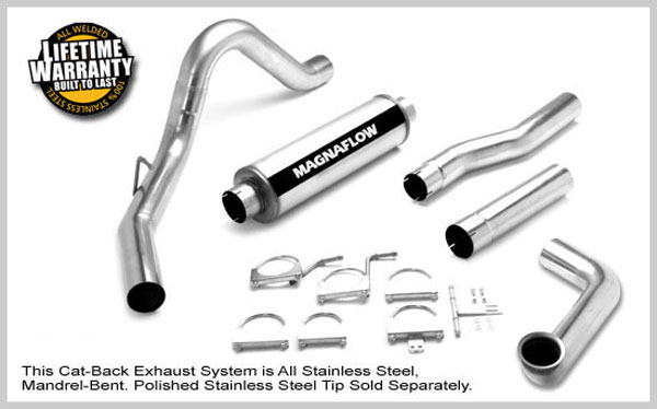Magnaflow 17979:  Exhaust System for FORD 7.3L POWERSTROKE DIESEL, 4in SYSTEM 1999-2003