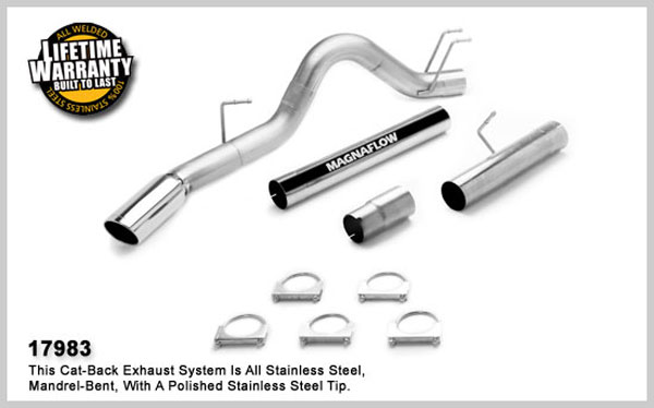 Magnaflow 17983:  Exhaust System for 2008 Ford F-Series 6.4L 4 inch