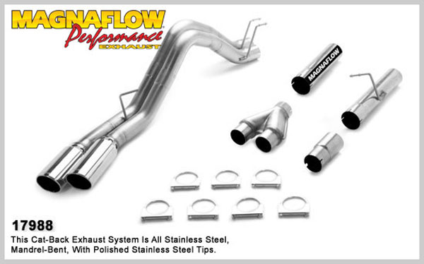 Magnaflow 17988:  Exhaust System for 2008 Ford F-Series 6.4L duals