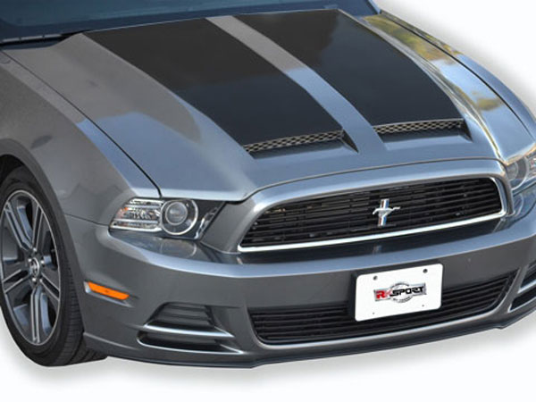 RKSport (18015010)  Mustang Ram Air Hood 2013-14 with Carbon Fiber Blisters