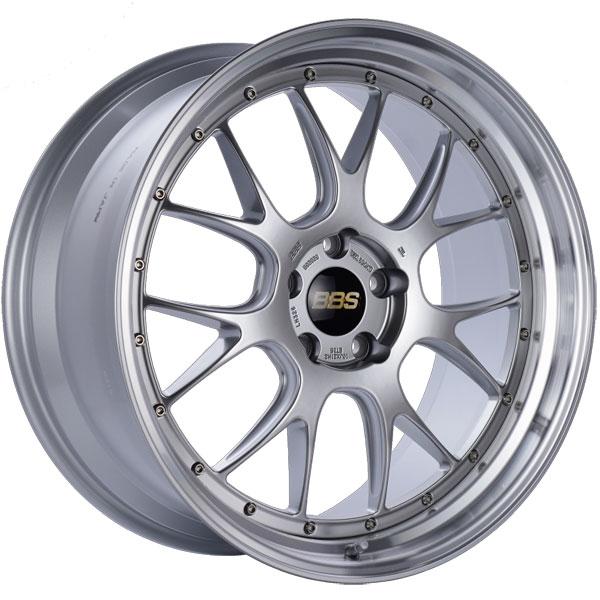 BBS LM326DSPK | LM-R 21x10 5x120 ET35 Diamond Silver Center Diamond Cut Lip Wheel -82mm PFS/Clip Required