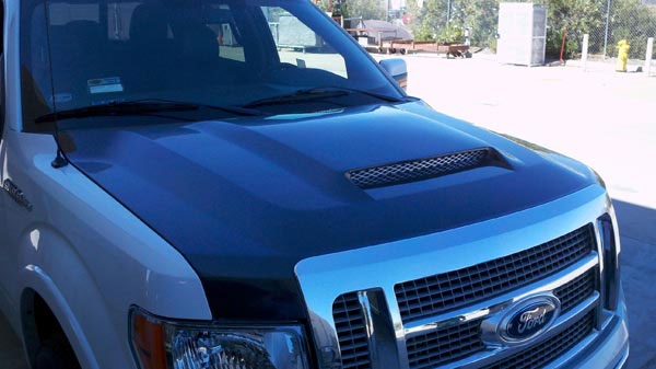 RKSport 19013050:  F-150 2009-14 Ram Air Hood With Carbon Fiber Blister