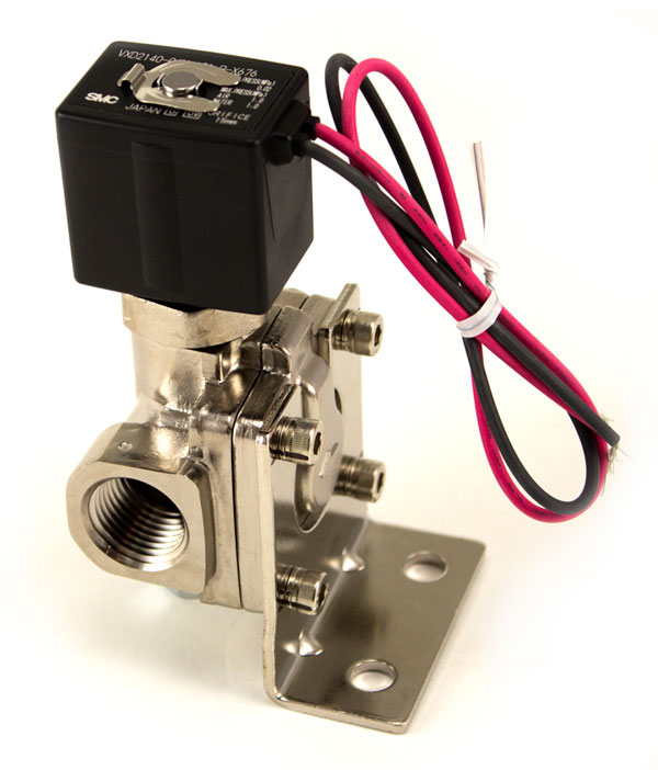 Air Lift 24300 | 1/2in Nickel Plated 300 PSI Solenoid With Bracket