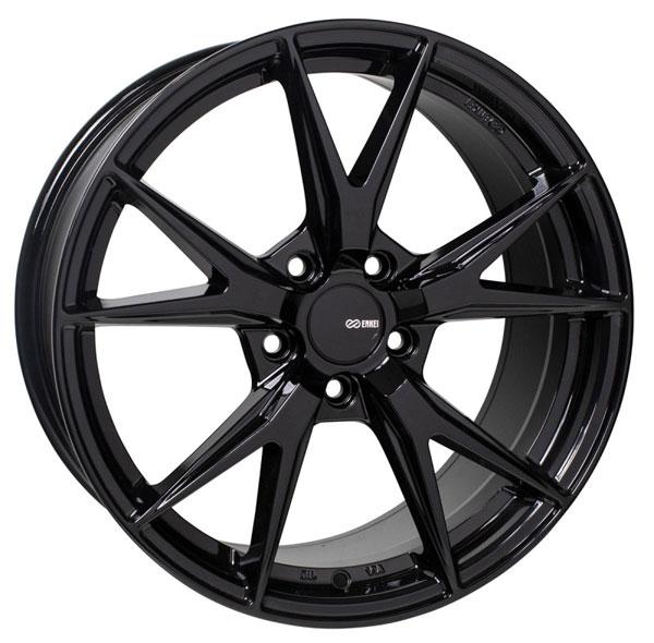 Enkei 523-775-8045bk | Phoenix 17x7.5 45mm Offset 5x100 72.6mm Bore Gloss Black Wheel