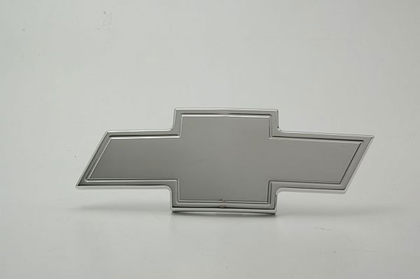 Empire 232P:  99-02 Silverado 01-06 Tahoe/Suburban Bowtie Emblem with Border - Polished