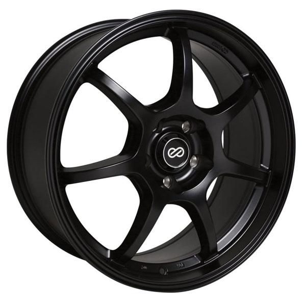 Enkei 488-880-1242bk | GT7 18x8 42mm Offset 5X120 Bolt Pattern 72.6 Bore Dia Matte Black Wheel