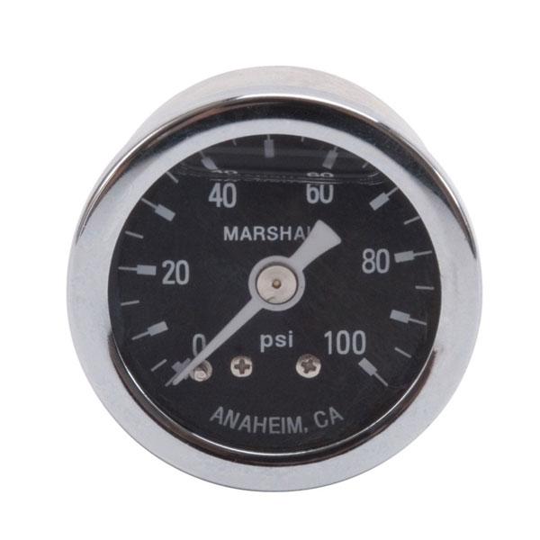 Russell 650340 | Performance 100 psi fuel pressure gauge (Liquid-filled)