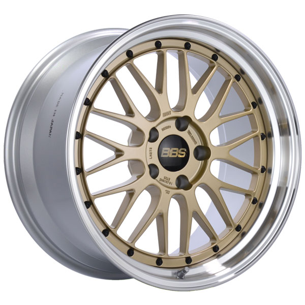 BBS LM272GPK   LM 19x10 5x120 ET25 Gold Center Polished Lip Wheel -82mm PFS/Clip Required