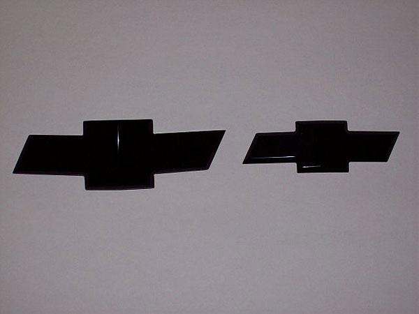 Empire 261FRB    Silverado 3500 1500 Silverado 3500 2500HD/3500HD Front/Rear Combo Bowtie Emblem Smoothie - Black; 2007-2011