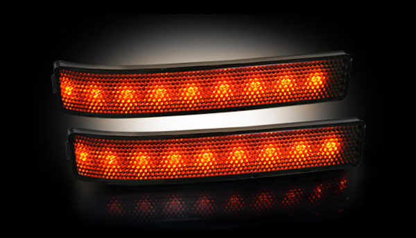 Recon 264241BK |  Ford F150 and Raptor 2009-13 Amber LED Side Mirror Markers - Smoked