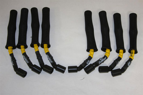 Granatelli 28-1545HTYB:  1997-2010 GM LS1 & LS6 Cars Coil-Near-Plug Conn Kit (Hi Temp Yellow & Black)