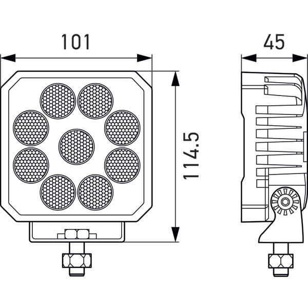 Hella 357112002 | ValueFit LED Work Light TS3000 LED MV CR LT